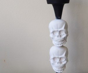 Plaster Skull Candlesticks: Halloween Do it Yourself Project