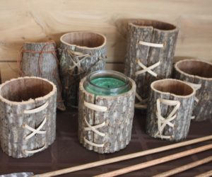 Rustic and charming, these cups are a little bit of nature fit for any decor.