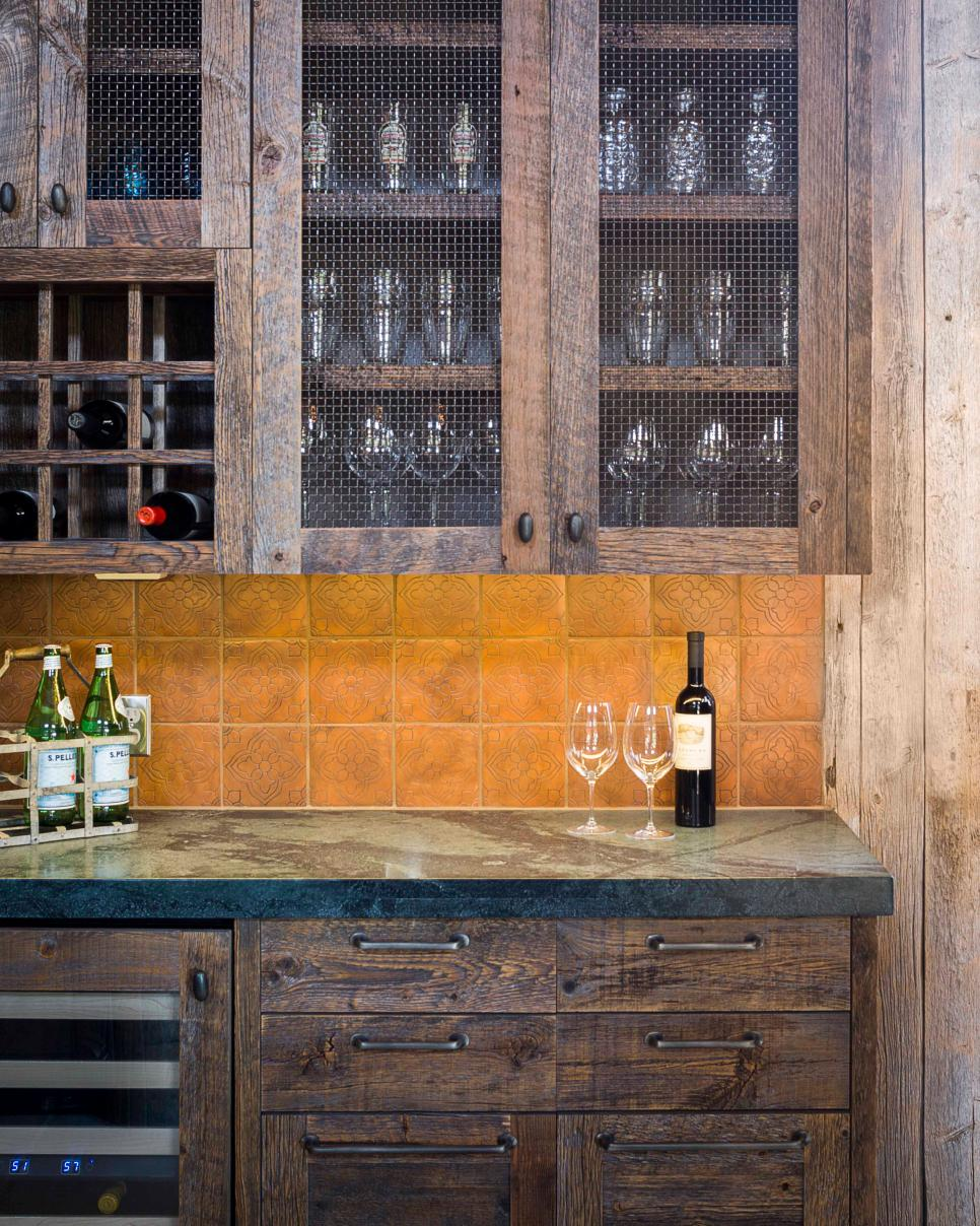 view in gallery - Rustic Cabinets