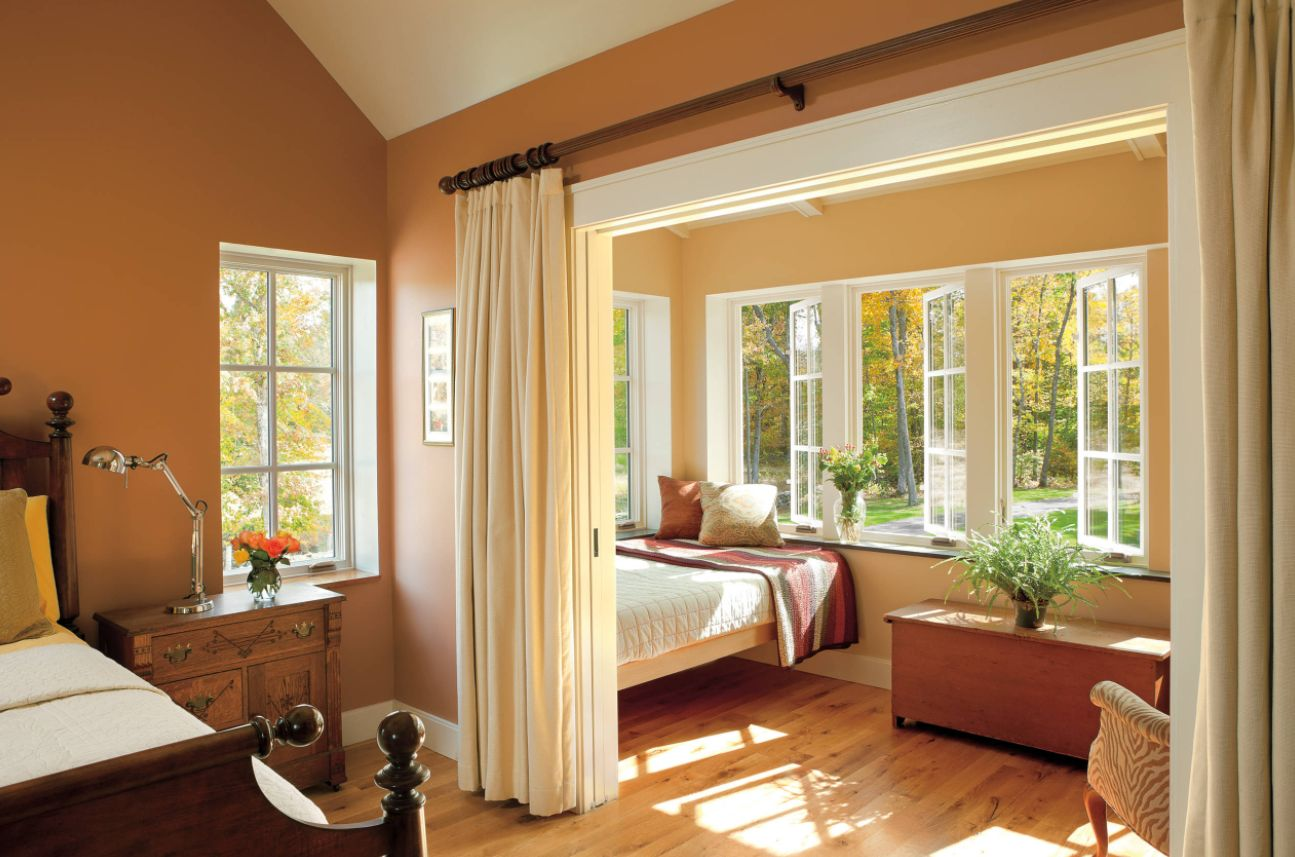 Room With Casement Windows : How to reinvent spaces with curtain room dividers