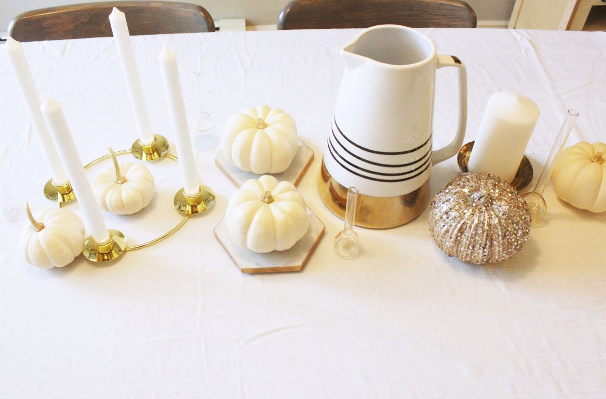 Similar to the rustic table decorating