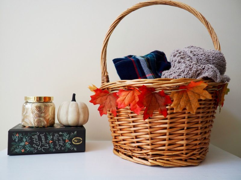 Simple Faux Leaf Basket DIY Project For Fall