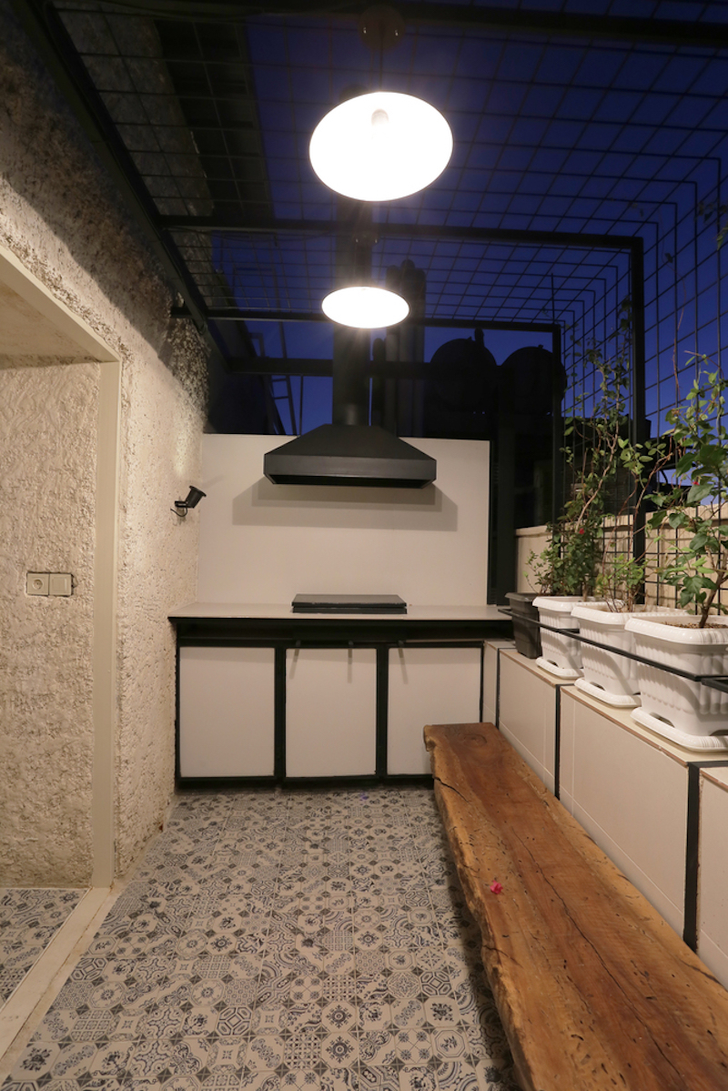 The apartment has been expanded beyond its original footprint and this allowed a terrace to be added