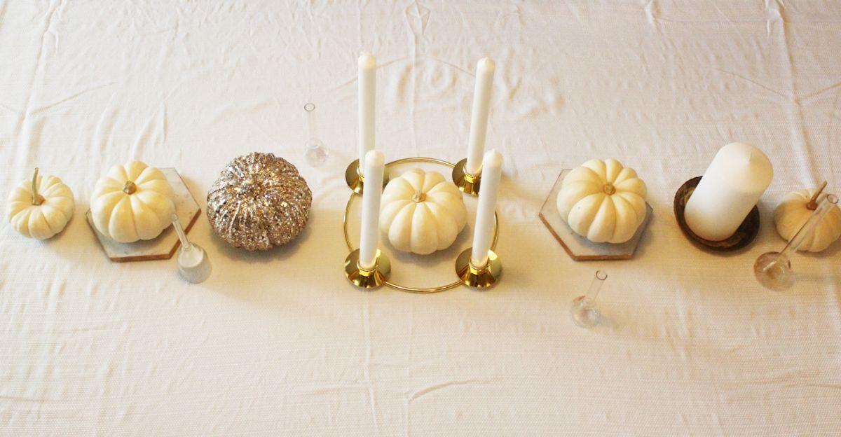 Symmetric White Thanksgiving Centerpiece