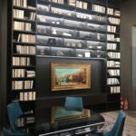 Tall home library with lots of storage for books