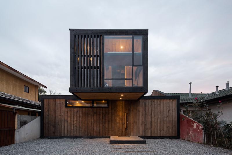 The once old and derelict house was revived and transformed into a modern home