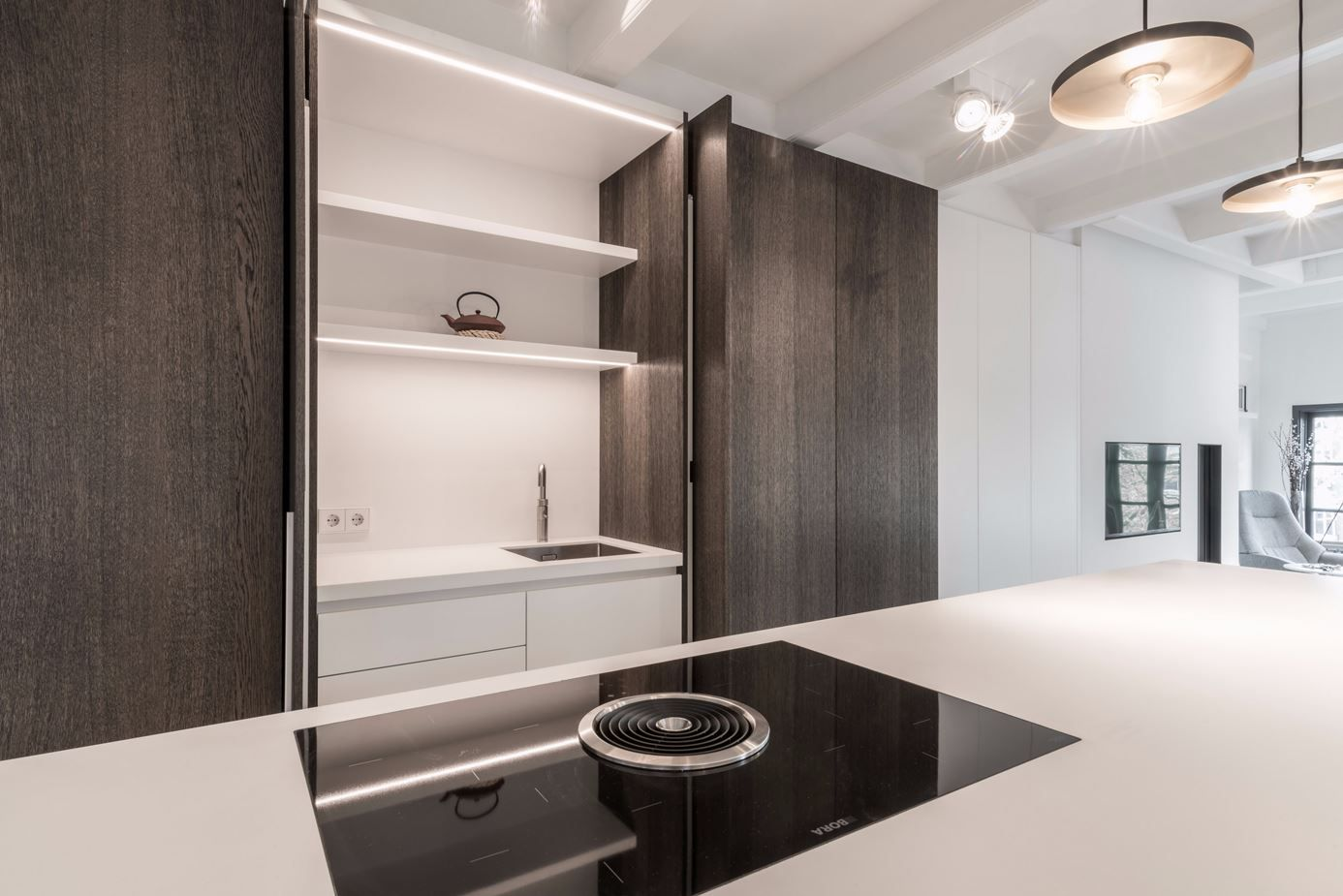 "The hidden kitchen concept demonstrates how ""less is more."""