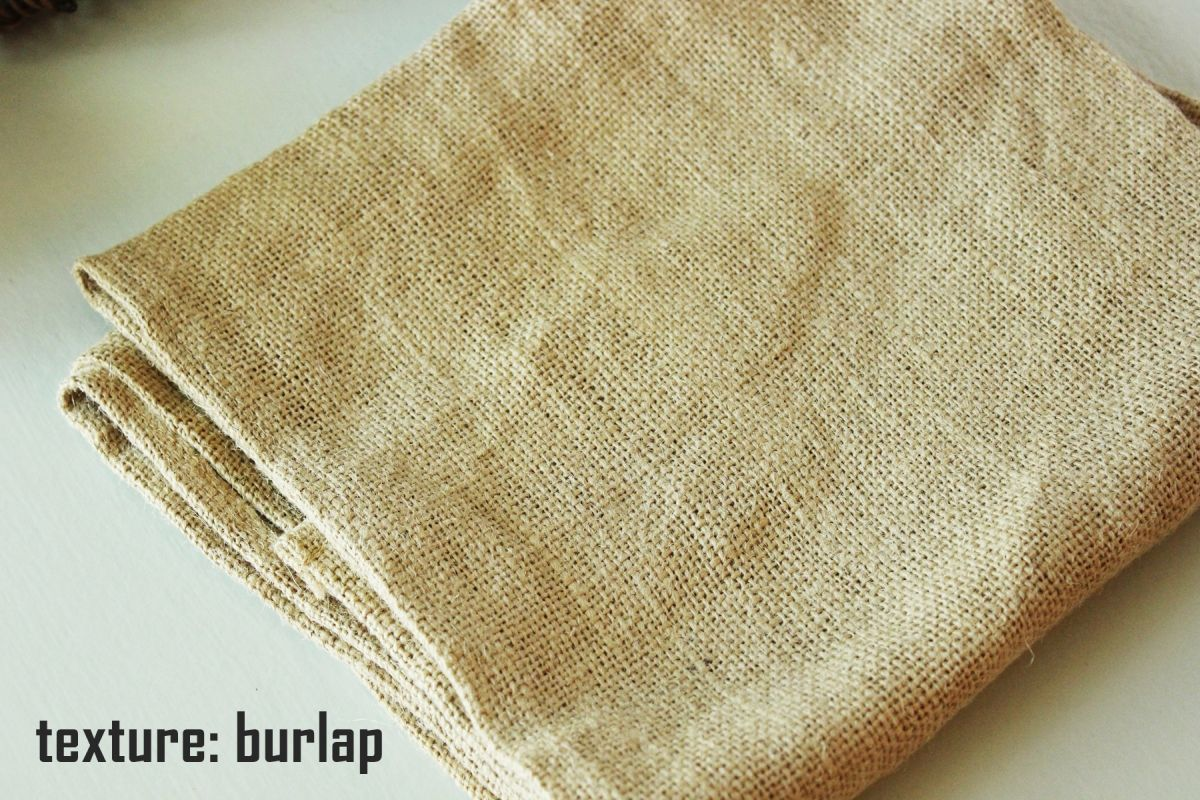 The primary thing to remember about rustic Thanksgiving décor - Burlap