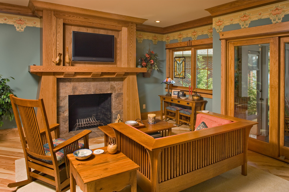 Everything you need to know about craftsman homes for Craftsman style living room furniture