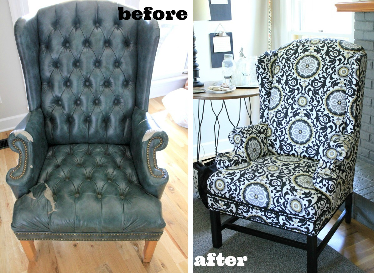 how to reupholster a chair makeovers to inspire you. Black Bedroom Furniture Sets. Home Design Ideas