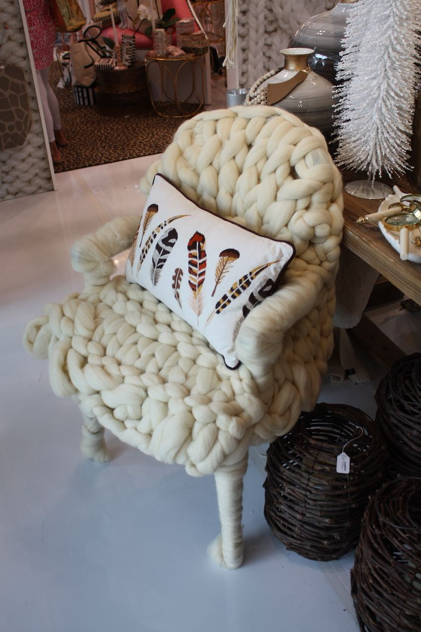 Two's Company has this chair that looks like it's a big warm chunky hug.