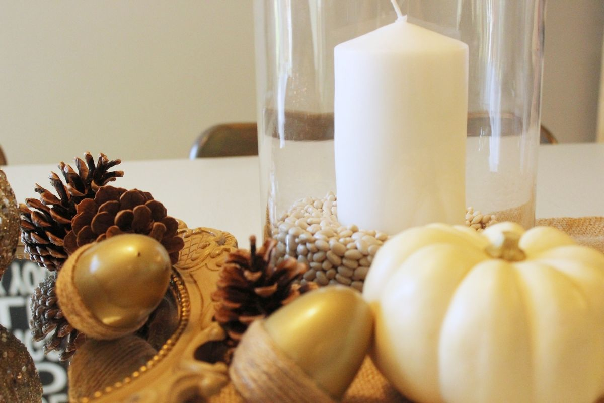 White Pumpkin Centerpieces-And our mini white pumpkins are a perfect host