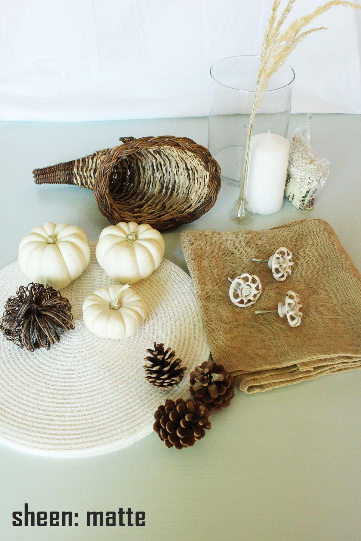 White Pumpkin Centerpieces - texture and nature
