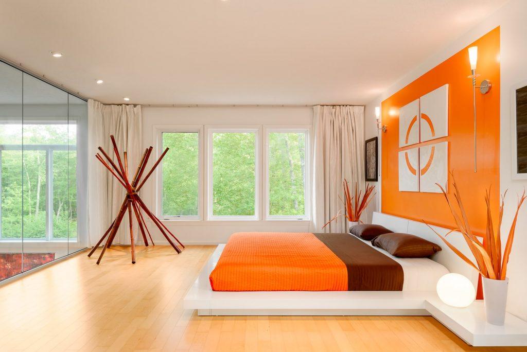 orange bedroom paint colors