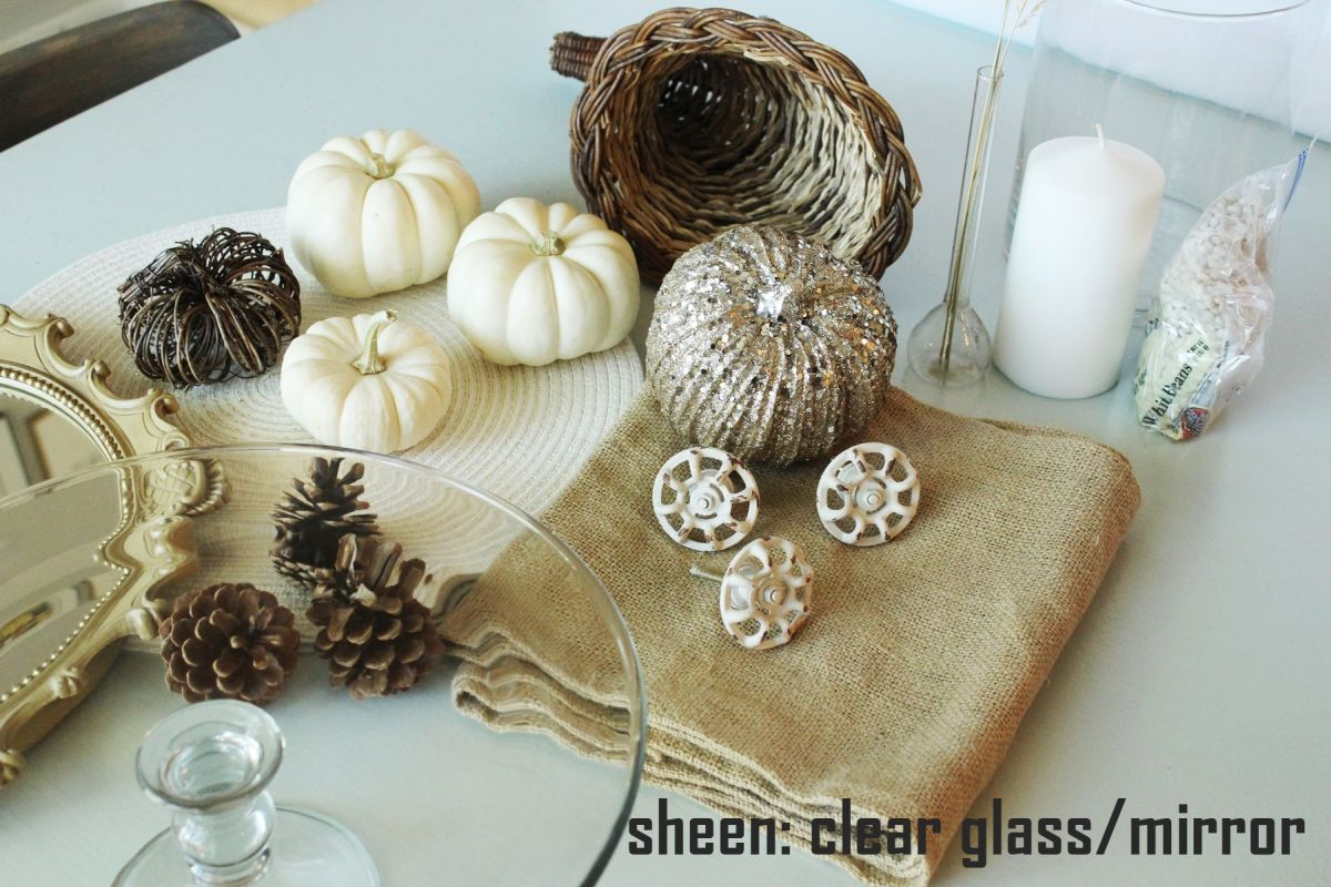 variations on sheen is to incorporate some clear glass