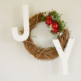 Christmas Joy Holiday Wreath