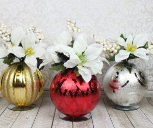 Christmas Ornament Floral Table Decor