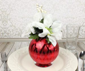 Christmas Ornament Floral Table Decor