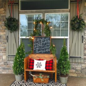 Christmas Porch decor bench sign