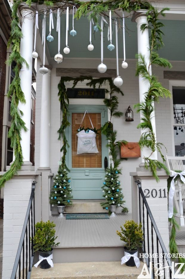 view in gallery - Outside Porch Christmas Decorations