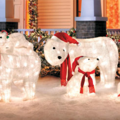 Christmas yard decorations polar bears
