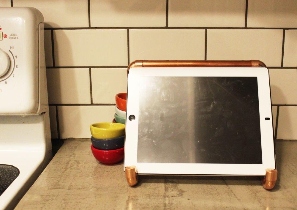 Copper Pipe iPad Stand