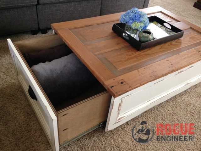 Stylish coffee table plans to base your next project on for Diy coffee table with drawers