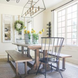 Farmhouse table free plan - project for weekend