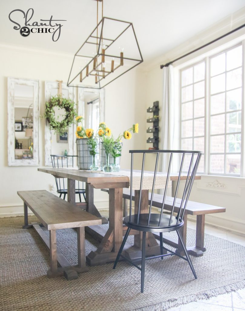 Chunky Is The New Chic - Farmhouse Table Plans You Need To See