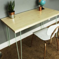 Hairpin legs desk - free plans