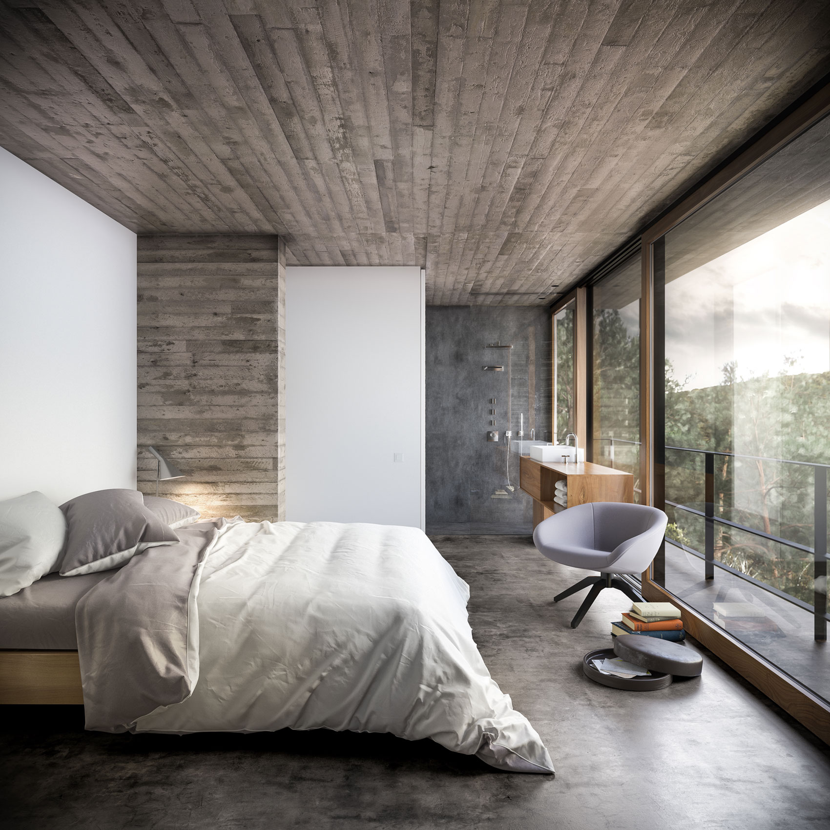 100 Beautiful Bedrooms And Their Dreamy Interior Decors: nature bedroom