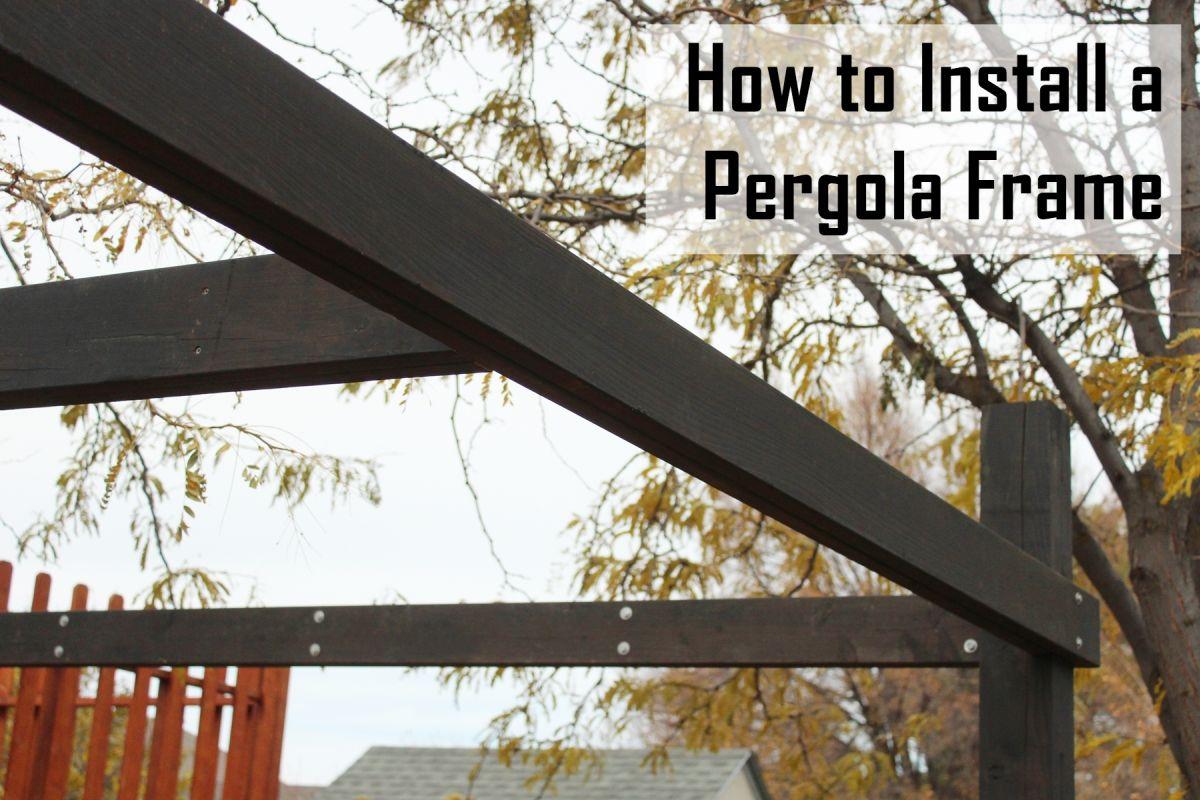 How to Frame a Modern Pergola