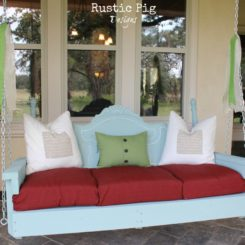 How to make a porch swing from old bed parts
