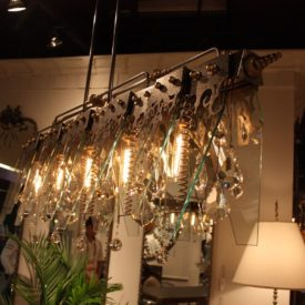 This type of industrial lighting works with luxury interiors.
