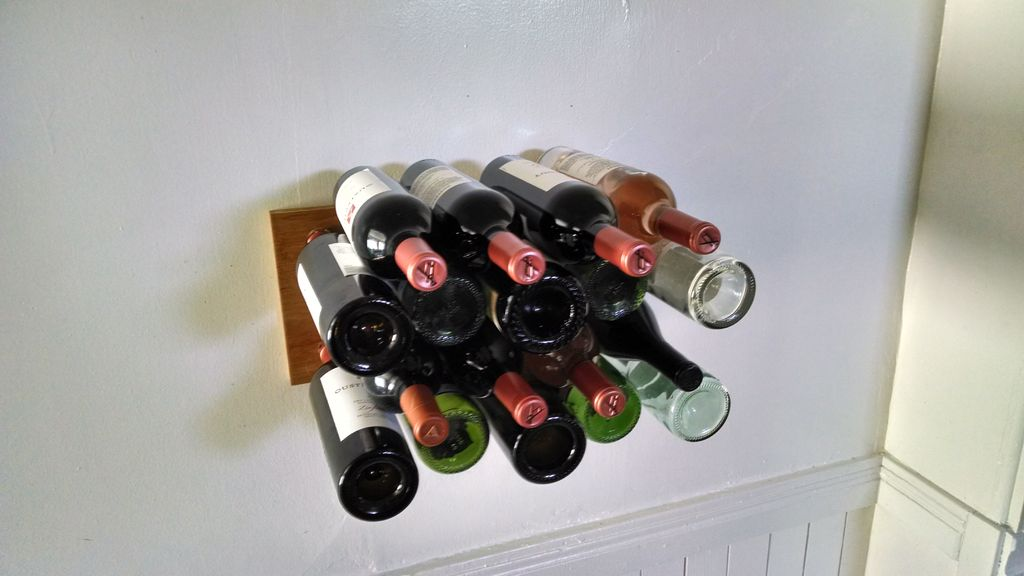 Minimalist wall-mounted wine rack