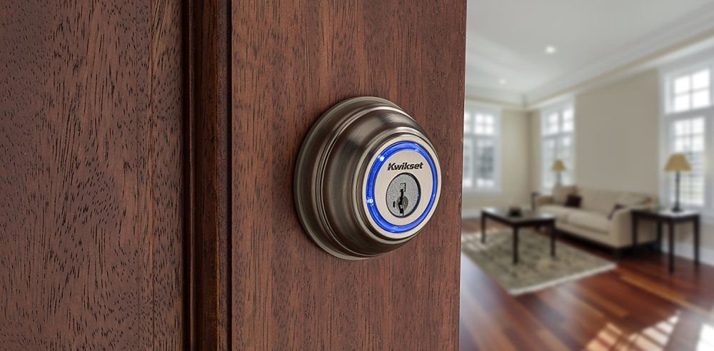 Kwikset Kevo (2. Generation) Touch-to-Open Bluetooth Smart Lock aus Satin Nickel von Kwikset