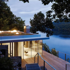 Lake House by LHVH Architekten - Waterfront House - Green Roof