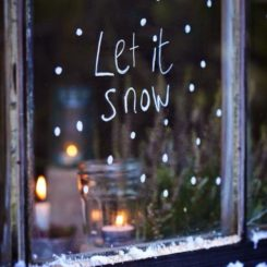 Let it snow Chalk window Decor