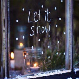 Let it snow Chalk window Decor