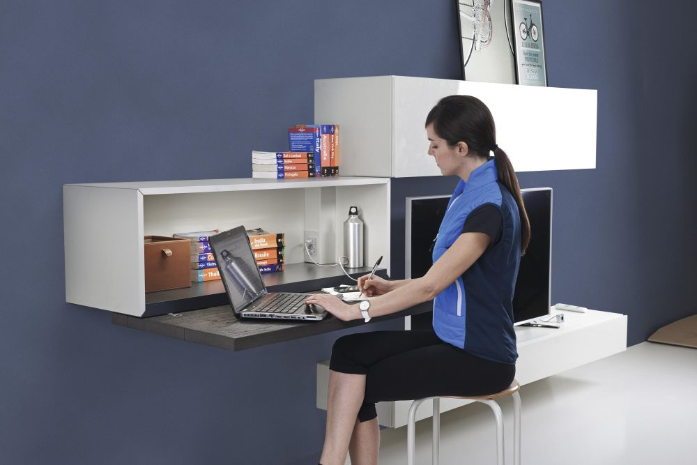 Modern wall mounted desk designs with flair and personality for Lago furniture