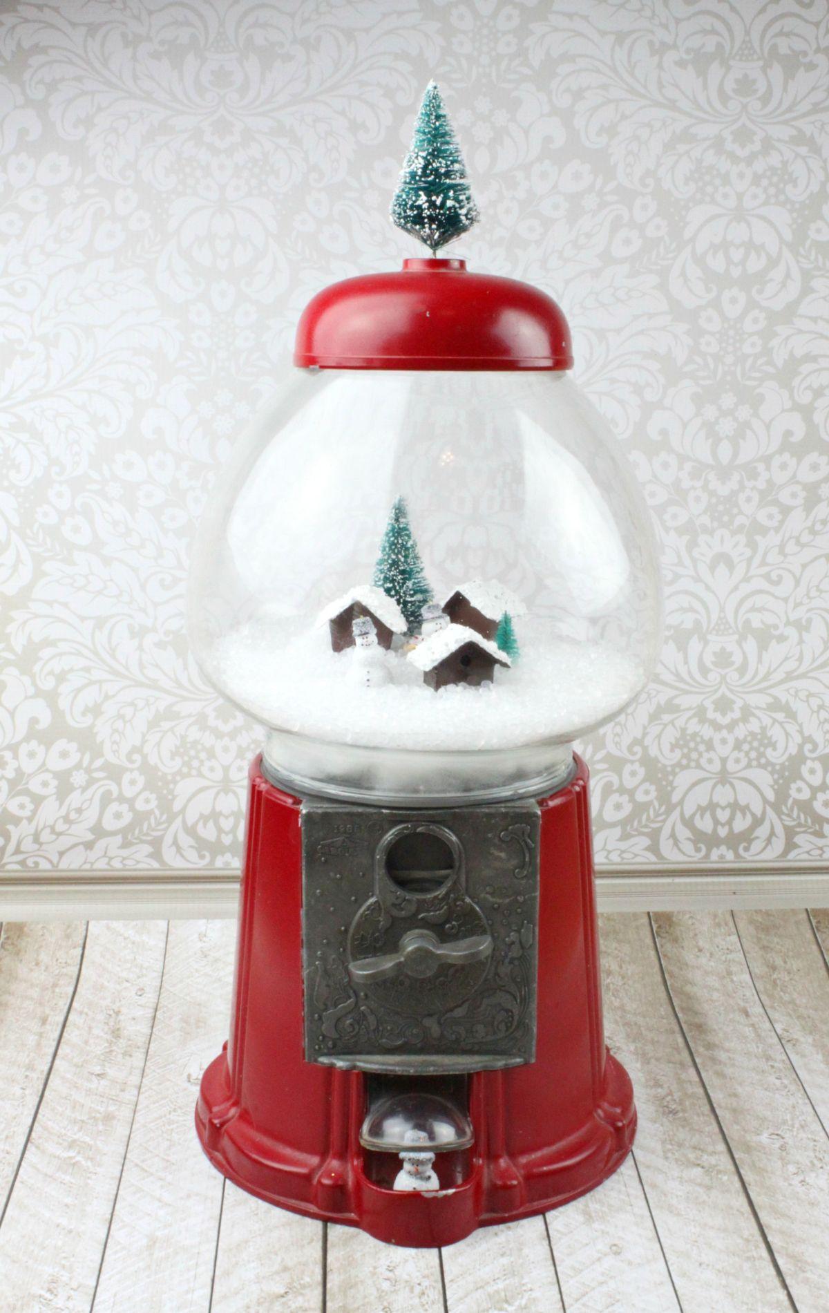 Make Gumball Machine Snow Globe Decor