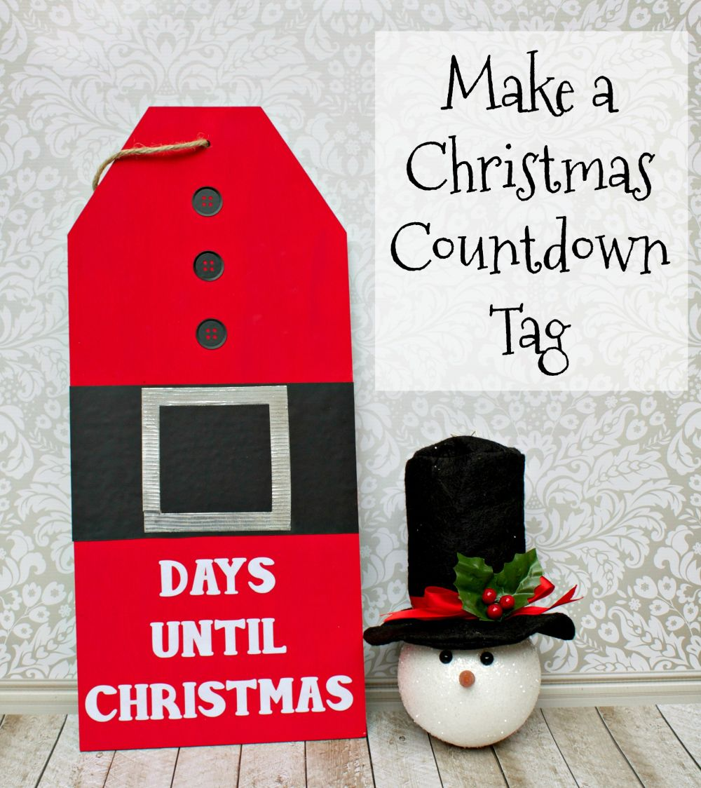 Make a Giant Christmas Countdown Tag