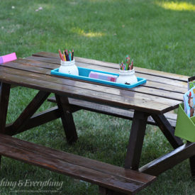 Mini picnic table for kids