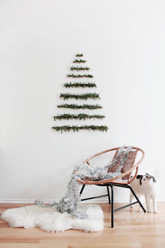 Wall Christmas Trees Ideas.Interesting Christmas Tree Alternatives For Walls