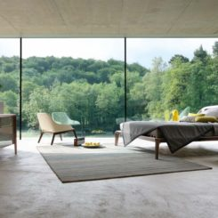 Modern Beds by Roche Bobois - Polished concrete floor