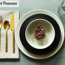 Modern Christmas Table Settings-Peppermint Pinecone