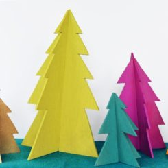 Modern Wooden Christmas Trees