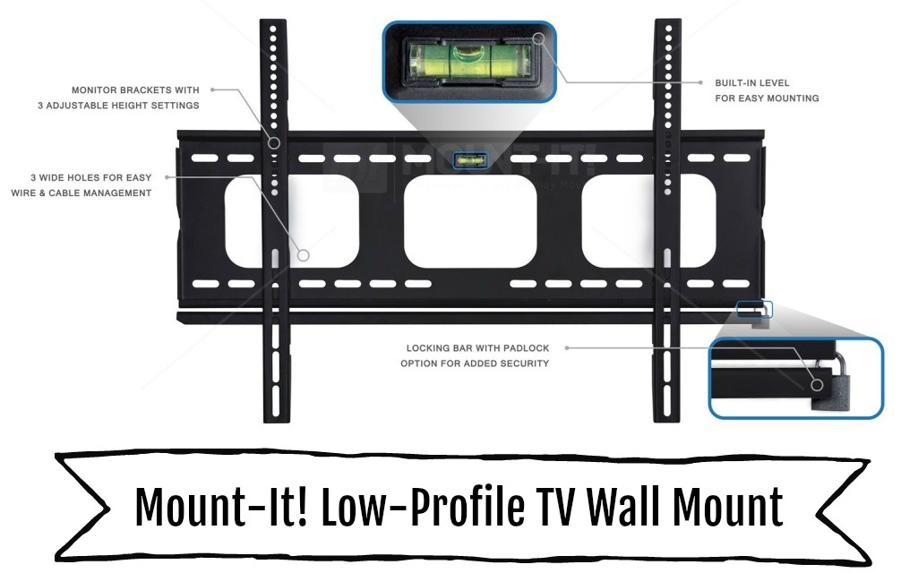 Mount-It! Low-Profile TV Wall Mount