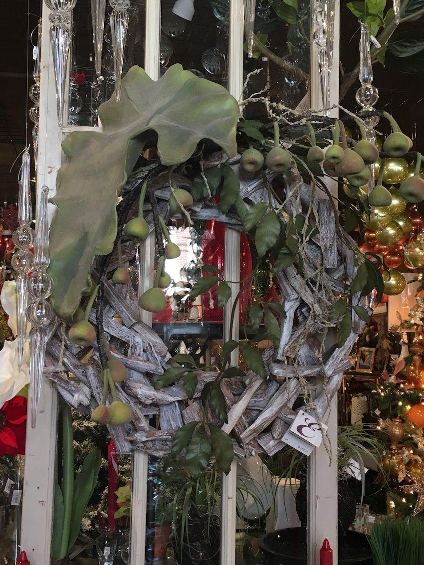 Thinking outside the box when choosing a wreath can help make a dramatic impact.