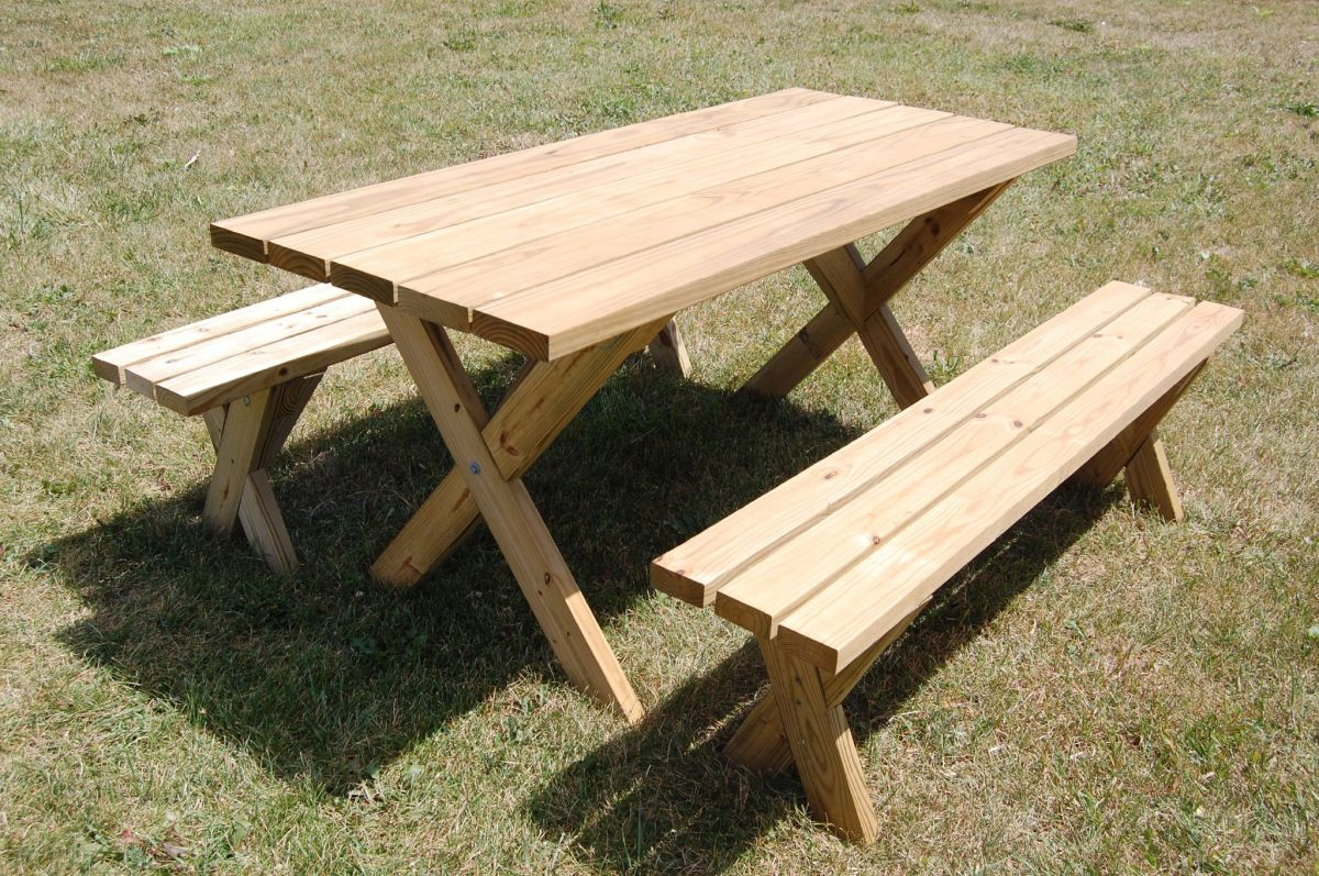 picnic table plans for a perfect weekend project. Black Bedroom Furniture Sets. Home Design Ideas